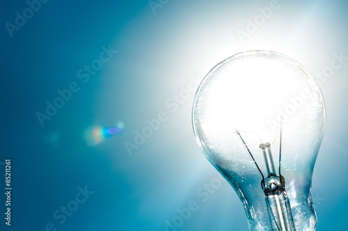 Fotografie, Obraz  Solar Energy, Light Bulb, Solution.