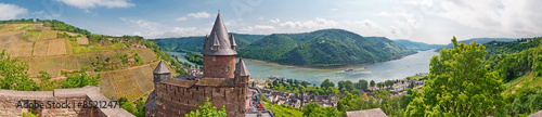 Photo Burg Stahleck über dem Rhein bei Bacharach