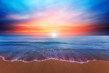 Beach And Twilight Sky