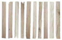 Wood Plank Isolated On White Background, Objects With Clipping Paths For Design Work