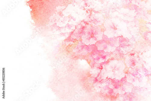 Flower watercolor illustration. Canvas Print