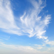 canvas print picture - plumose clouds in the blue sky