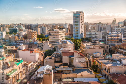 Canvastavla Aerial view of Nicosia city, Cyprus