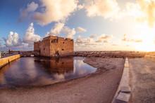 Famous Medieval Castle At Paphos Harbor. Cyprus