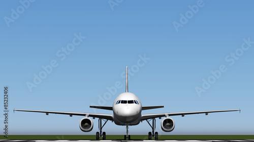 Poster Avion à Moteur air plane
