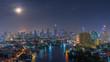 Bangkok at night, Panoramic.