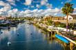 canvas print picture - The Grand Canal, on Balboa Island, in Newport Beach, California.
