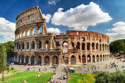 Stampa su Tela Colosseum or Coliseum in Rome, Italy