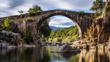 Ancient Roman Bridge. Spain. A...