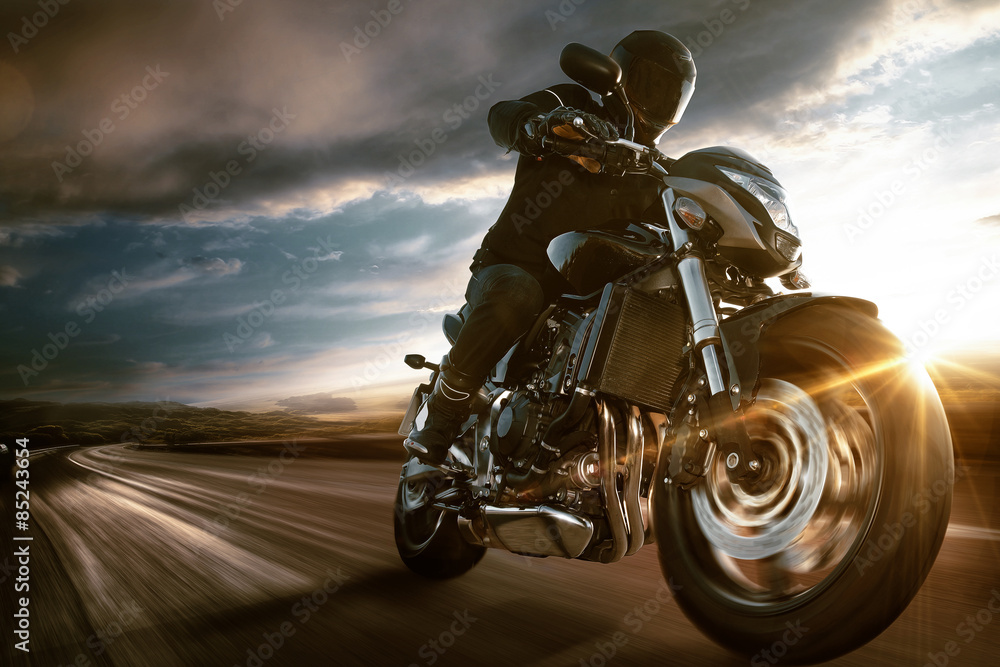 Fototapeta Fast Motorbike