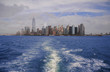 Southern Manhattan from the Hudson river, New York