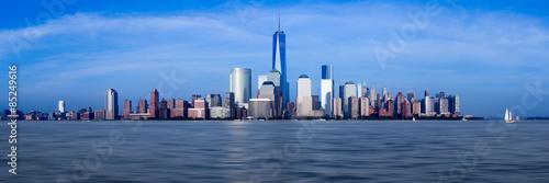 Panorama of Lower Manhattan at dusk Poster