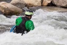 Expert Kayaker In White Water Buena Vista