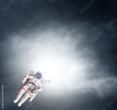 Deurstickers Nasa Astronaut spaceman aerial space stars Earth. Elements of this image furnished by NASA.