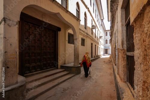 Printed kitchen splashbacks Zanzibar stonetown zanzibar alleyway pedestrian