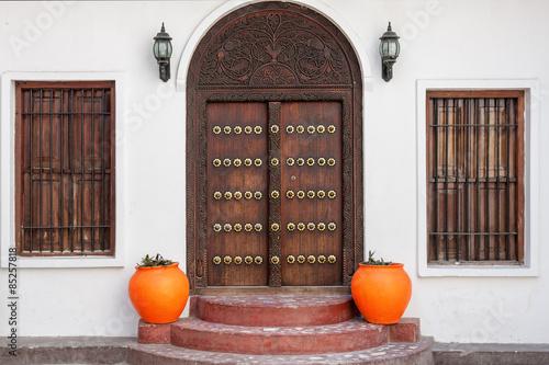 Printed kitchen splashbacks Zanzibar traditional zanzibar door