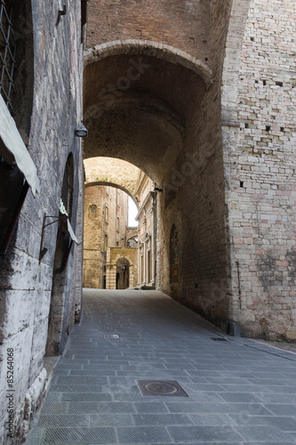 Spoed Foto op Canvas Oude gebouw Strada del centro storico , Perugia
