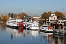 Boats On American River In Old...
