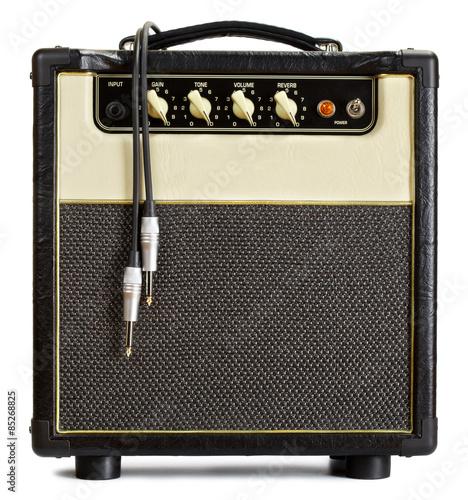 Vintage Guitar Amplifier Canvas Print