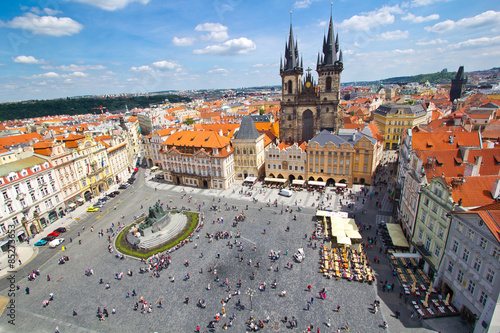 Staande foto Praag Altstädter Ring in Prag