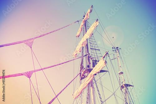Fotografie, Obraz  Vintage retro filtered picture of a mast.
