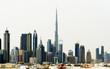 Dubai World Trade center and Burj Khalifa