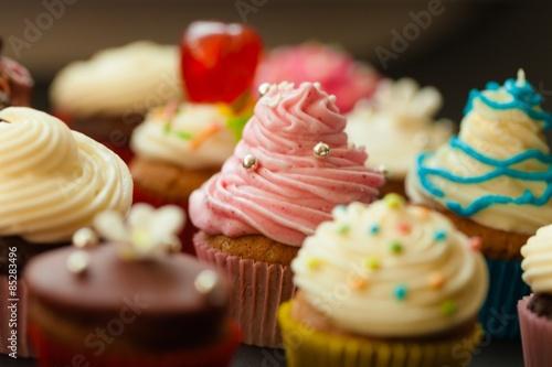Photo  Cupcake, Candy, Multi Colored.