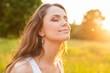 canvas print picture - Women, Healthy Lifestyle, Sun.
