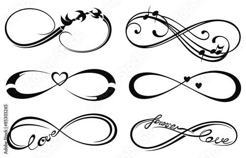 Stampa su Tela  Infinity love, forever symbol