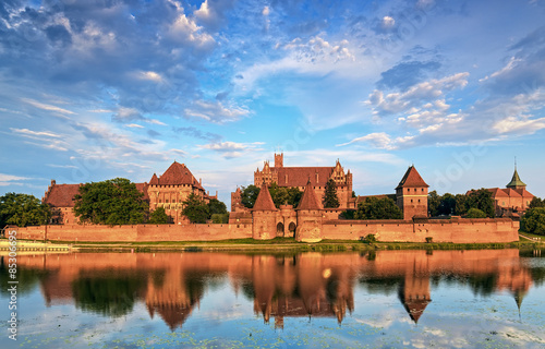Teutonic Knights in Malbork castle in summer. World Heritage Lis #85306695