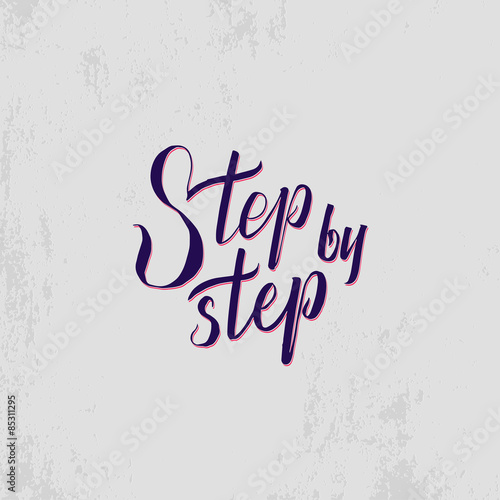 Fotografie, Obraz  Step by step calligraphic poster