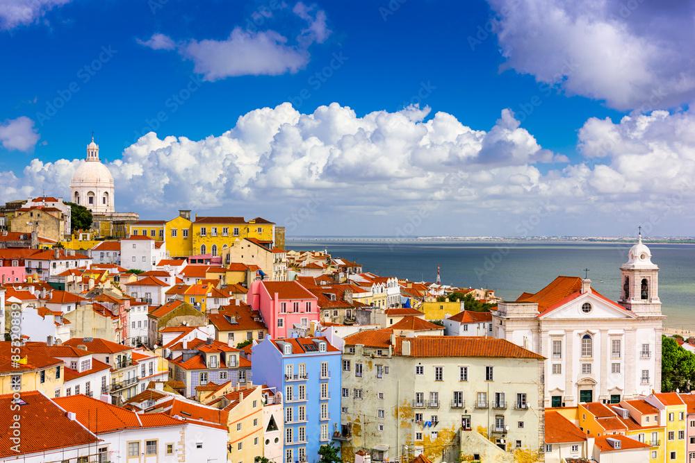 Fototapety, obrazy: Alfama Lisbon Cityscape