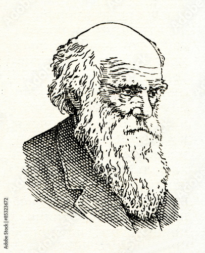 Tableau sur Toile Charles Darwin, English naturalist and geologist