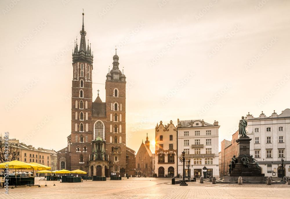 Fototapety, obrazy: Stare centrum Krakowa, Polska