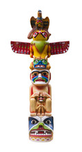 Colorful Totem Pole. Path Incl...
