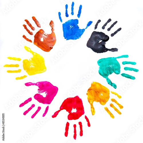 Fotografie, Obraz  Handprint, Child, Human Hand.