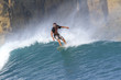 Indonesia, Lombok Island, surfing man