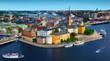 Leinwanddruck Bild - Panorama of Stockholm, Sweden