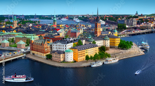 Wall Murals Northern Europe Panorama of Stockholm, Sweden