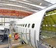 Airplane construction in a hangar