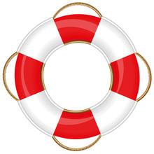 Lifebuoy - Isolated Vector Illustration On White Background.