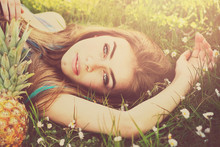 Gorgeous Young Woman Lying In ...