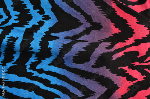 Fotografie, Obraz  Blue,purple,pink zebra pattern