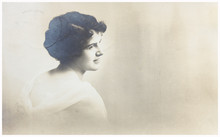Old Photo Portrait Of Young Woman