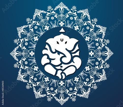 Photo  Indian god Ganesha, Ganesh idol - vector eps10