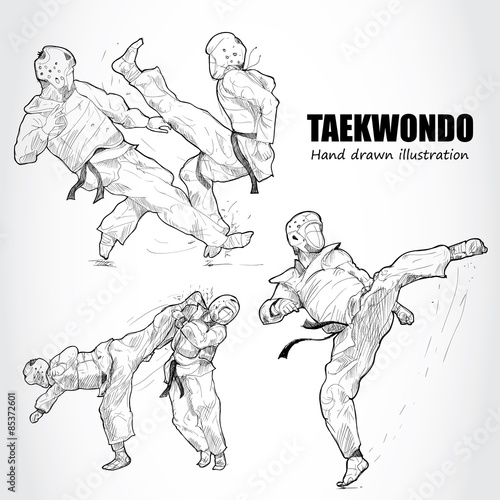Obrazy Taekwondo   illustration-of-taekwondo
