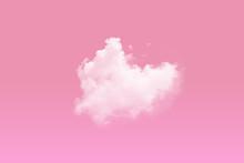 Heart Beat Cloud On Pink Sky