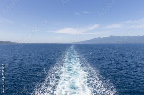 Fotografía  船の航行跡(航跡)