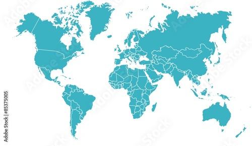 carte du monde 19062015 Tableau sur Toile