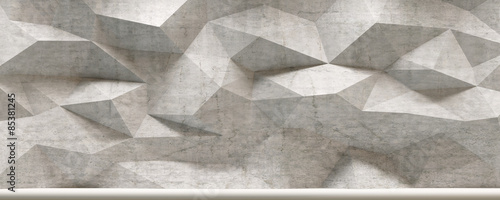Concrete 3d Polygon Wall Interior © Christian Hillebrand